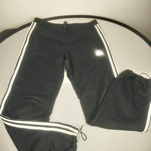 Adidas men's sweat pants black/white small